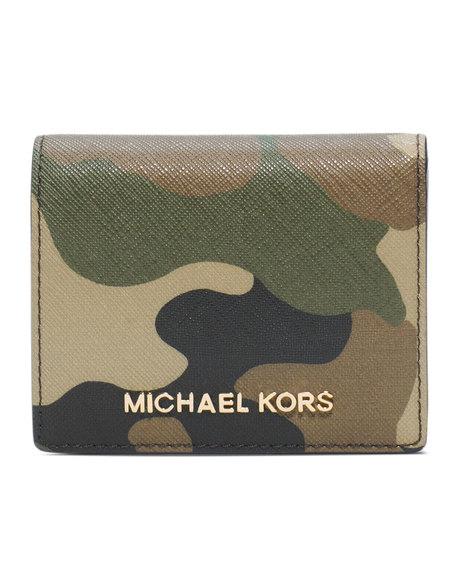 cfa8b0bcacdf MICHAEL KORS MICHAEL Michael Kors Jet Set Camo Travel Flap Card Holder  32F4GTVF2R