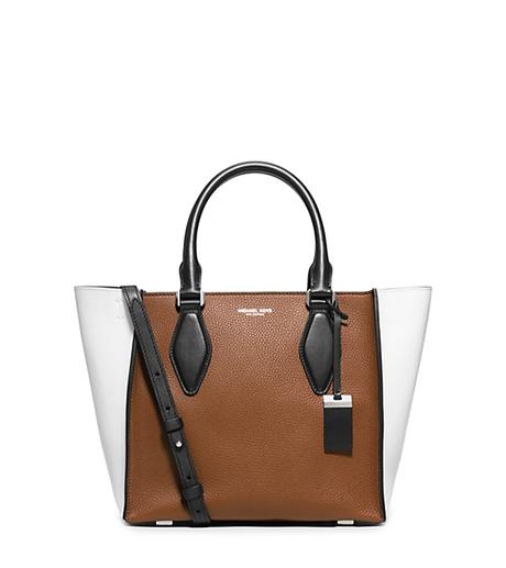Gracie Medium Leather Tote - LUGGAGE/WHITE - 31F5PGRT2U