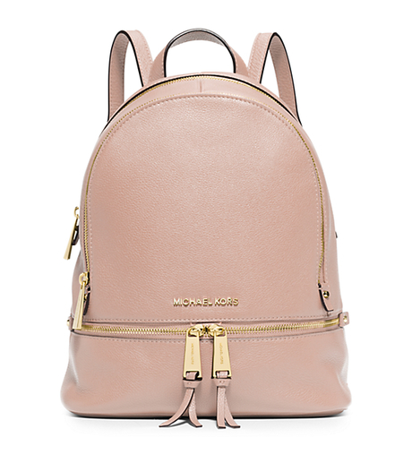 RHEA SMALL LEATHER BACKPACK - 30S5GEZB1L - BALLET | MICHAEL KORS ...