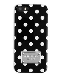 MICHAEL Michael Kors Dot-Print Electronics iPhone® 5 Cover - BLACK/WHITE - 32F3MELL1O