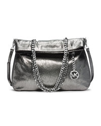 MICHAEL Michael Kors Large Lacey Fold-Over Tote - NICKEL - 30F4MLCT3K