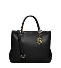 Anabelle Medium Leather Tote - BLACK - 30S6GAPT2L