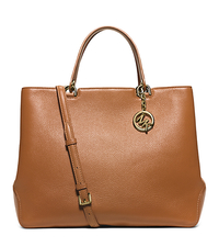 Anabelle Extra-Large Leather Tote - ACORN - 30S6GAPT9L