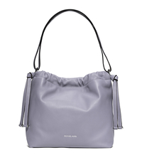 Angelina Large Leather Shoulder Bag - LILAC - 30S6SAQL3L