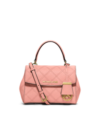 Ava Extra-Small Saffiano Leather Crossbody - PALE PINK - 32F5GAVC1T