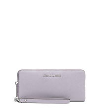Jet Set Travel Saffiano Leather Continental Wallet - LILAC - 32S5STVE9L