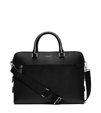 Harrison Large Leather Briefcase - BLACK - 33S6LHRA3L