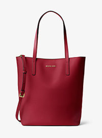 Emry Large Leather Tote - CHERRY - 30F6GE4T7L