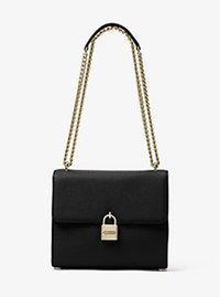 Mercer Large Leather Messenger - BLACK - 30H6GM9M3L