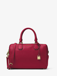 Mercer Medium Leather Duffel - CHERRY - 30H6GM9U2L
