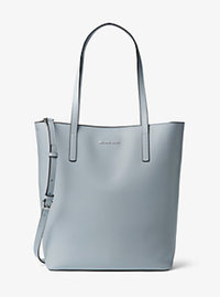 Emry Large Leather Tote - DUSTY BLUE - 30T6SE4T7L