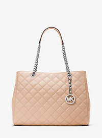 Susannah Large Quilted-Leather Tote - BALLET - 30H6SAHT3L