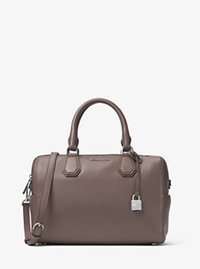 Mercer Medium Leather Duffel - CINDER - 30H6SM9U2L