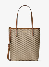 Emry Large Logo Tote - NATURAL/LUGGAGE - 30H6TE4T3V
