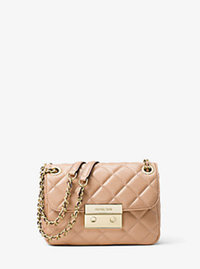 Sloan Small Quilted-Leather Shoulder Bag - OYSTER - 30F5GSLL1L