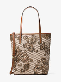 Emry Large North/South Heritage Paisley Tote - LUGGAGE - 30F6APIT4V