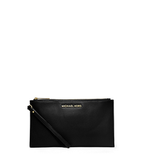 Bedford Large Leather Zip Clutch - BLACK - 32T4GBFW7L