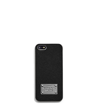 Saffiano Leather Phone Case for iPhone 5 - BLACK - 32S4SELL1L