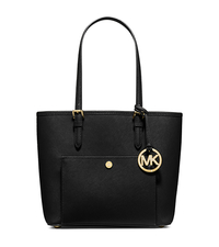 Jet Set Medium Saffiano Leather Tote - BLACK - 30F4GTTT8L