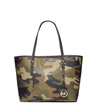 Jet Set Travel Camouflage Saffiano Leather Small Tote - ONE COLOR - 30F4GTVT1R