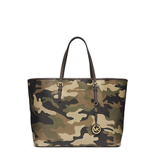 Jet Set Travel Camouflage Saffiano Leather Tote - DUFFLE - 30F4GTVT2R