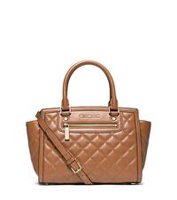 Selma Quilted Leather Medium Satchel - WALNUT - 30F4GZQS2L