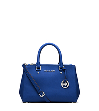 Sutton Small Saffiano Leather Satchel - ELECTRIC BLUE - 30F4SSUS5L