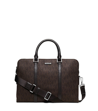 Jet Set Logo Briefcase - BROWN - 33S5SMNA6B
