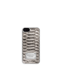 Lydia Python Pattern-Embossed Leather Phone Case - ONE COLOR - 32H4MELL1K