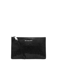 Rhea Embellished Python Pattern-Embossed Leather Clutch - ONE COLOR - 32H4TECW3G