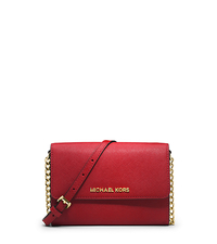 Jet Set Travel Saffiano Leather Smartphone Crossbody - RED - 32T4GTVC3L