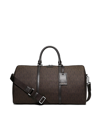 Jet Set Travel Large Logo Duffel - BROWN - 33S5STVU3B