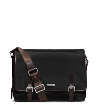 Windsor Large Nylon Messenger - BLACK/BROWN - 33S5SWDM3C