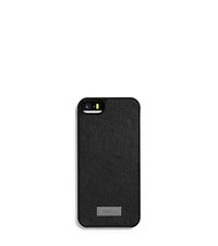 Saffiano Leather Phone Case for iPhone 5 - BLACK - 39S5LELL1L