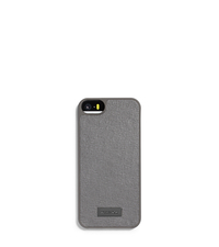 Saffiano Leather Phone Case for iPhone 5 - GREY - 39S5LELL1L