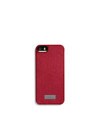 Saffiano Leather Phone Case for iPhone 5 - WINE - 39S5LELL1L
