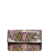 Janey Hand-Painted Python Clutch - ONE COLOR - 31H4TJNC3V