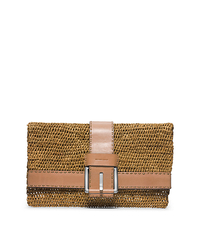 Janey Large Raffia Clutch - PEANUT - 31H4TJNC7W