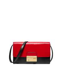 Gia Color-Block Leather Clutch - CRIMSON - 31S5GGAC2T