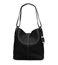 Rogers Large Leather Hobo - BLACK - 31S5PRGH3L