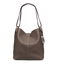 Rogers Large Leather Hobo - ELEPHANT - 31S5PRGH3L