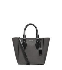 Gracie Small Leather Tote - SLATE/BLACK - 31F5PGRT1U