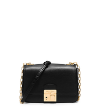 Gia Small Leather Shoulder Bag - BLACK - 31H5GGAX1L