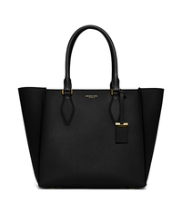 Gracie Large Leather Tote - BLACK - 31H5GGRT3L