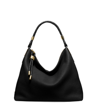 Skorpios Large Leather Shoulder Bag - BLACK - 31H5GSKL7L