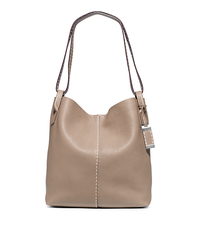 Rogers Large Leather Hobo - DARK TAUPE - 31S5PRGH3L