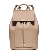 Miranda Large French Calf Leather Backpack - DUNE - 31S6PMDB8L