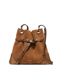 Sedona Medium Suede Crossbody - LUGGAGE - 31S6PSDH6V