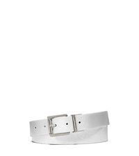 Reversible Saffiano Leather Belt - SILVER/GOLD - 551541