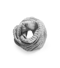 Hand-Knit Infinity Scarf - PEARL GREY - 536400